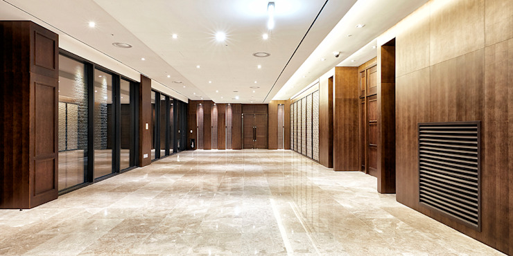 B1F Hall 모던 스타일 호텔 by 피투엔디자인 _____ p to n design 모던