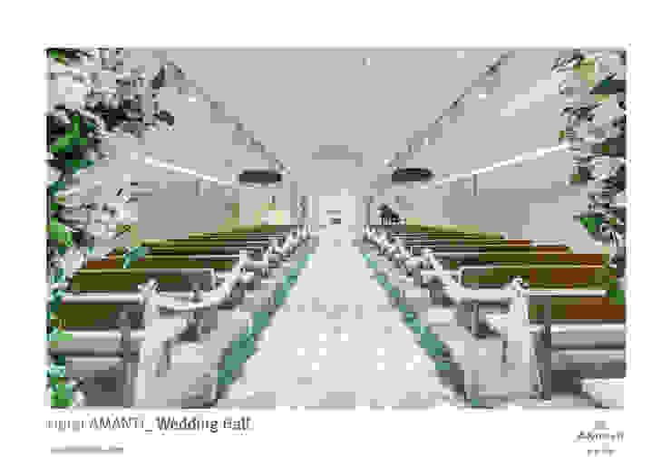 amanti Hotel seoul. 2F Wedding 모던 스타일 호텔 by 피투엔디자인 _____ p to n design 모던