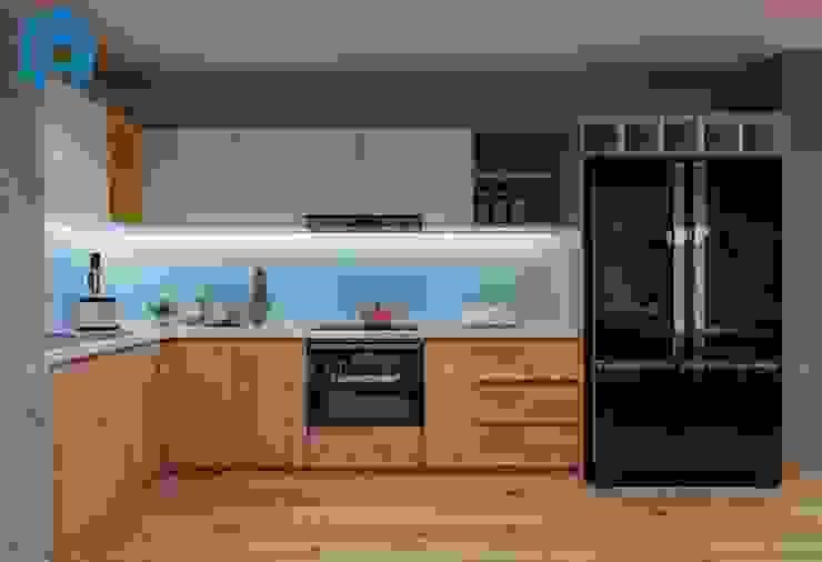 Hệ thống tủ bếp hình chữ L hiện đại Nhà bếp phong cách hiện đại bởi Công ty TNHH Nội Thất Mạnh Hệ Hiện đại