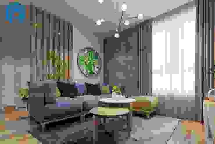 Cây xanh luôn được chú trọng trong toàn thể căn hộ bởi Công ty TNHH Nội Thất Mạnh Hệ Hiện đại