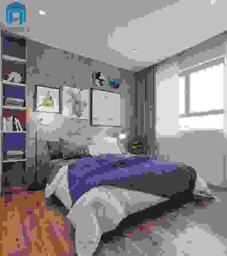 Trang trí phòng với rèm cửa hai lớp phối màu hài hòa Phòng ngủ phong cách hiện đại bởi Công ty TNHH Nội Thất Mạnh Hệ Hiện đại