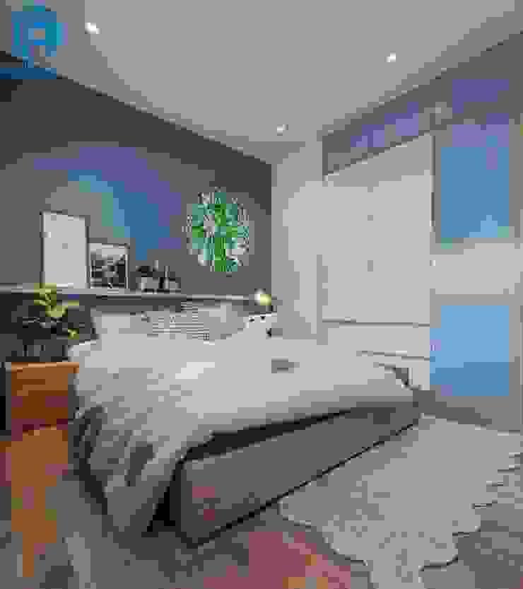 Phòng ngủ với tone xanh dương lạ mắt độc đáo Phòng ngủ phong cách hiện đại bởi Công ty TNHH Nội Thất Mạnh Hệ Hiện đại