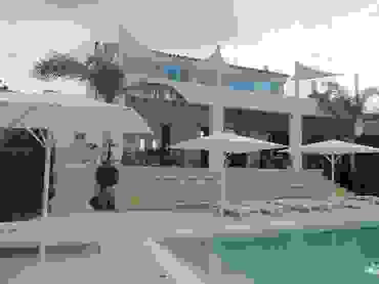 Área Deluxe Balconies, verandas & terracesAccessories & decoration Textile White