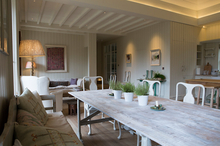 Provence inspired dining area Country style dining room by CLPM Ltd Construction Project Consultancy Country