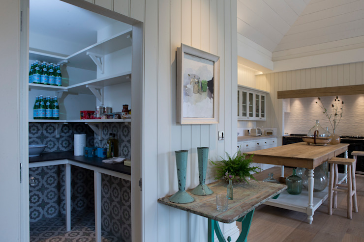 Walk-in larder for Provence-style kitchen by CLPM Ltd Construction Project Consultancy Country
