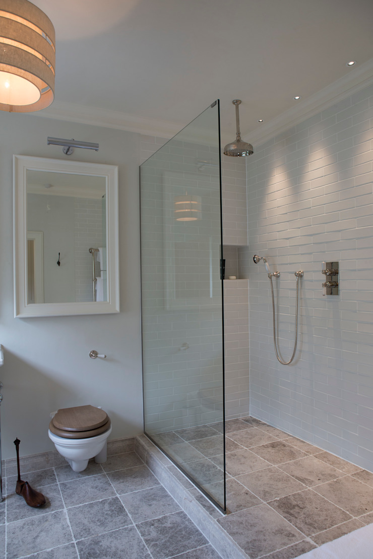 Ensuite with large walk-in shower Country style bathroom by CLPM Ltd Construction Project Consultancy Country