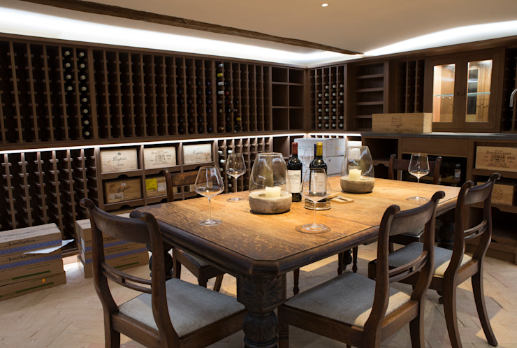 Wine cellar and tasting area with basement by CLPM Ltd Construction Project Consultancy Country