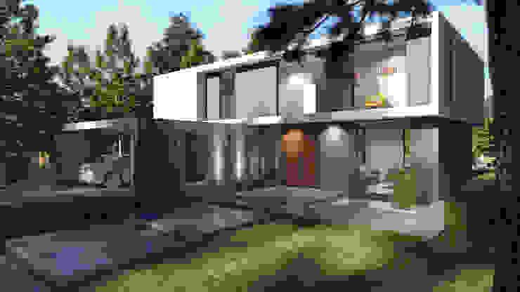 Fachada - Frente de Arky5 Arquitectura & Estructuras Moderno