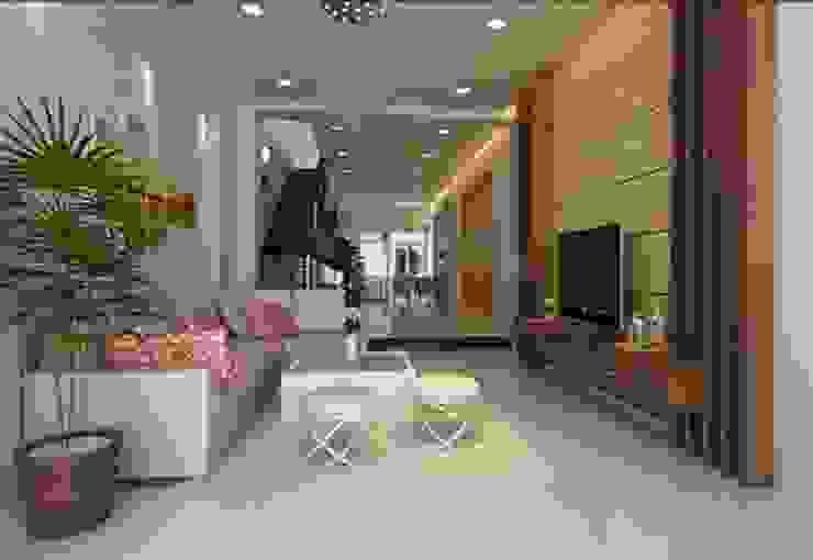Tư vấn thiết kế mẫu nhà 4 tầng hiện đại trên diện tích 74m2 bởi Kiến Trúc Xây Dựng Incocons