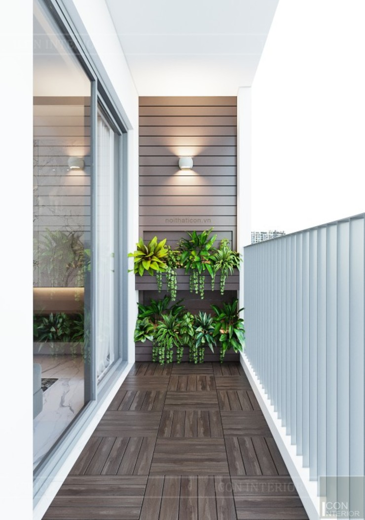 ICON INTERIOR Modern corridor, hallway & stairs