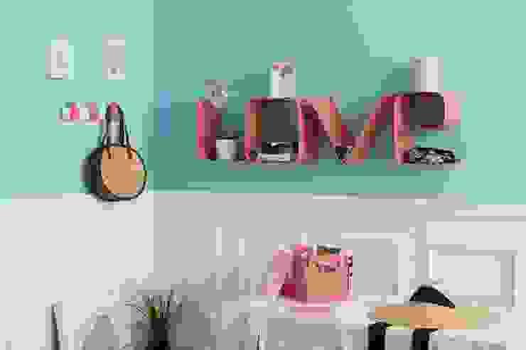 Soggiorno con BOX portaoggetti, mensola LOVE e THUMB rosa salmone Mipiacemolto CasaAccessori & Decorazioni Metallo