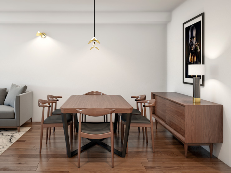 Scandinavian style dining room by Alma Braguesa Furniture Scandinavian Wood Wood effect