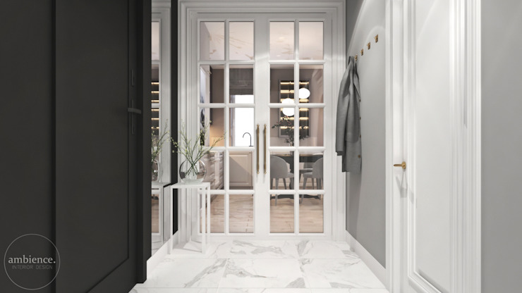 Ambience. Interior Design Classic style corridor, hallway and stairs