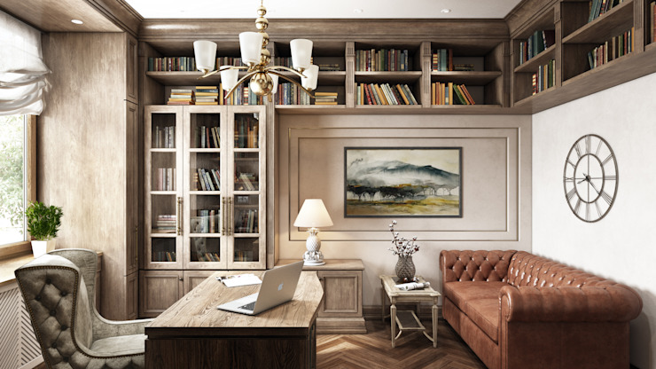 Дом мечта Рабочий кабинет в классическом стиле от Наталья Преображенская | Студия 'Уютная Квартира' Классический