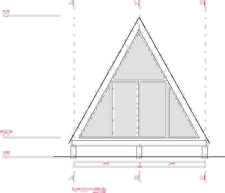 Cabaña tipo A de UNOAUNO arquitectura sustentable Minimalista Madera Acabado en madera