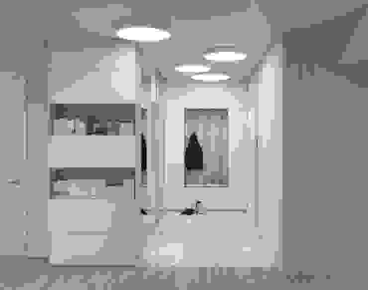 Прихожая Коридор, прихожая и лестница в стиле минимализм от ИнтеРИВ Минимализм