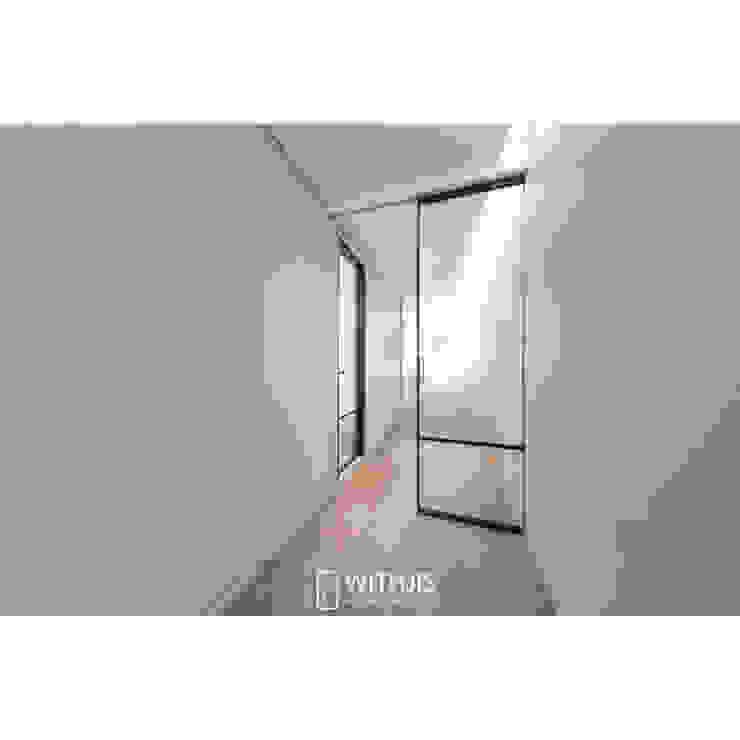 ALU-SD, 1SD (슬라이딩도어 1, 상부구동형) 모던스타일 복도, 현관 & 계단 by WITHJIS(위드지스) 모던 알루미늄 / 아연
