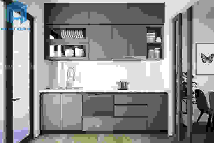 Hệ thống tủ bếp sang trọng Nhà bếp phong cách hiện đại bởi Công ty TNHH Nội Thất Mạnh Hệ Hiện đại