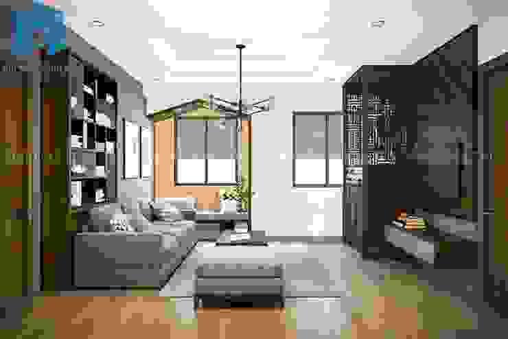 Tổng thể không gian phòng khách bởi Công ty TNHH Nội Thất Mạnh Hệ Hiện đại