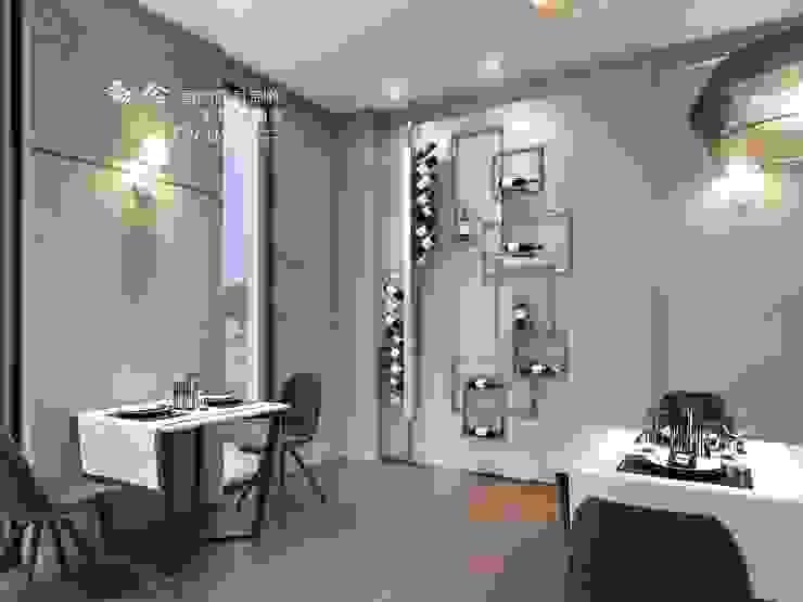 餐廳/商業空間/酒櫃 根據 木博士團隊/動念室內設計制作 古典風