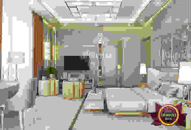 Cozy Bedroom with Pastel Details by Luxury Antonovich Design