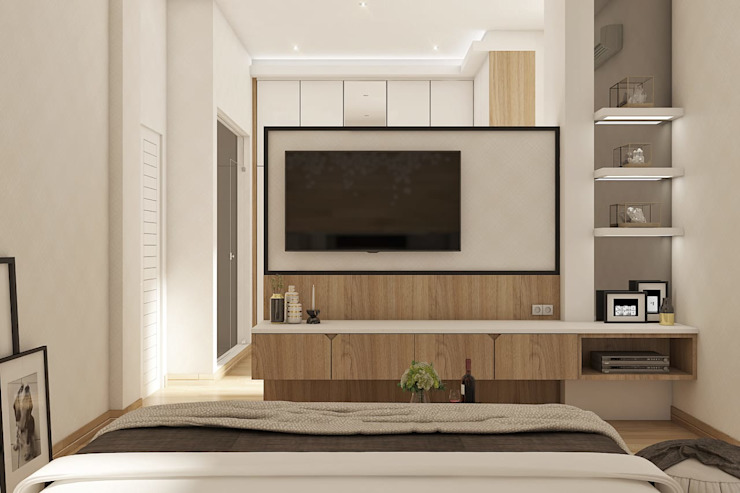 Alternatif Partisi TV Kamar Tidur Modern Oleh Lighthouse Architect Indonesia Modern