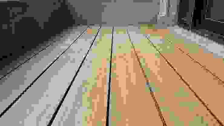 塑木鋪設─大樓陽台 根據 新綠境實業有限公司 日式風、東方風 塑木複合材料