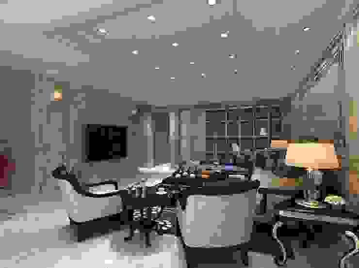客廳設計 麥斯迪設計 Classic style living room Marble White