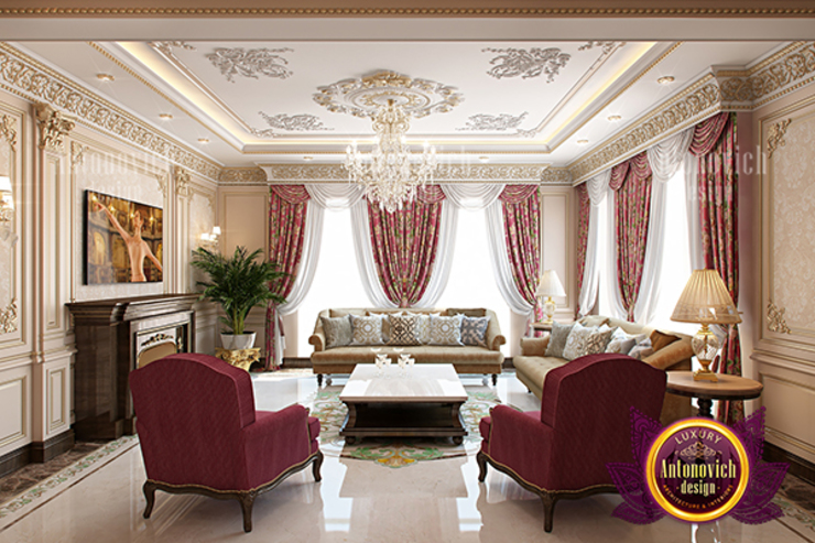 Perfect Amazing Living Room Interior by Luxury Antonovich Design