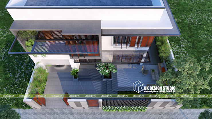 Modern Terrace by UK DESIGN STUDIO - KIẾN TRÚC UK Modern