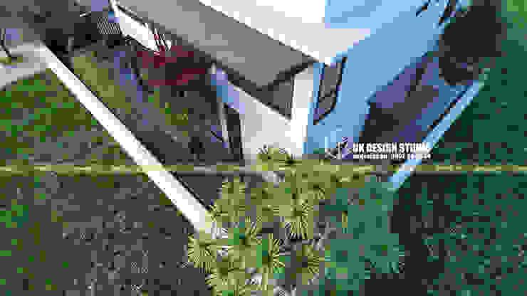 Modern Corridor, Hallway and Staircase by UK DESIGN STUDIO - KIẾN TRÚC UK Modern