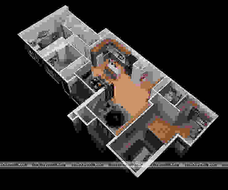 Layout: hiện đại  by Công ty CP Kiến trúc V-Home, Hiện đại