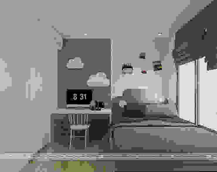 Thiết kế nội thất chung cư Vinhomes Green Bay, Mễ Trì, Từ Liêm: hiện đại  by Công ty CP Kiến trúc V-Home, Hiện đại