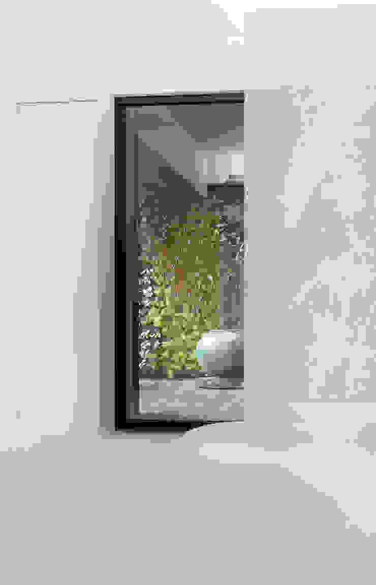 梁宅 Liang Residence 现代客厅設計點子、靈感 & 圖片 根據 何侯設計 Ho + Hou Studio Architects 現代風