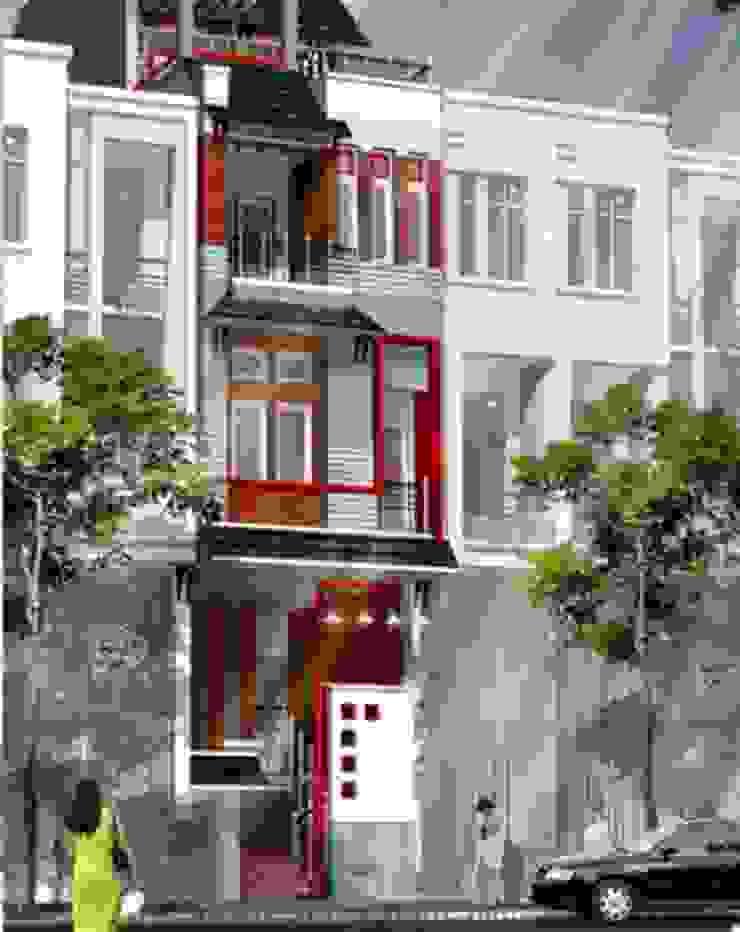Những mẫu nhà 5 tầng đơn giản, tối ưu công năng bởi Kiến Trúc Xây Dựng Incocons