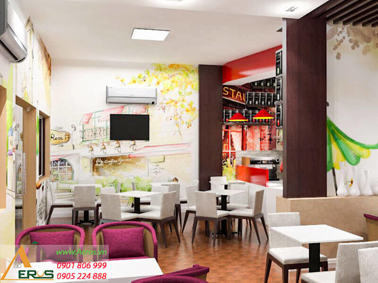 Thiet Ke Thi Cong Quan Cafe Kem 2B Tai Quan 10 bởi xuongmocso1 Hiện đại