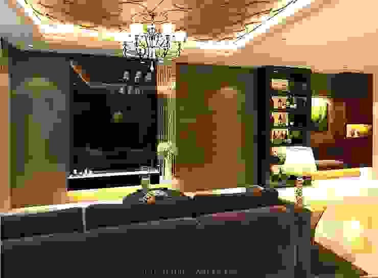 Luxury style for Choa Chu Kang Crescent HDB Modern living room by Singapore Carpentry Interior Design Pte Ltd Modern
