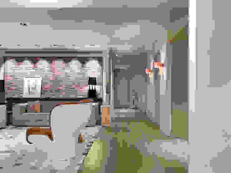樓中樓住宅 Duplex Residence 何侯設計 Ho + Hou Studio Architects 现代客厅設計點子、靈感 & 圖片