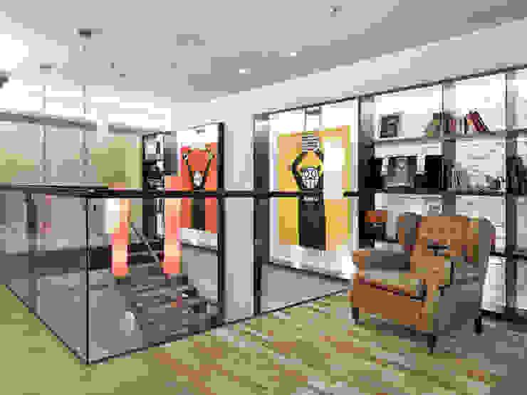 樓中樓住宅 Duplex Residence 何侯設計 Ho + Hou Studio Architects 書房/辦公室