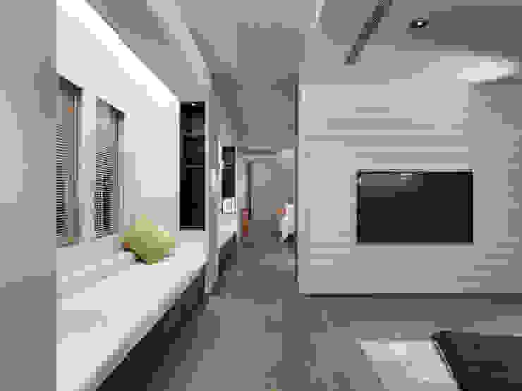 樓中樓住宅 Duplex Residence 何侯設計 Ho + Hou Studio Architects 視聽室