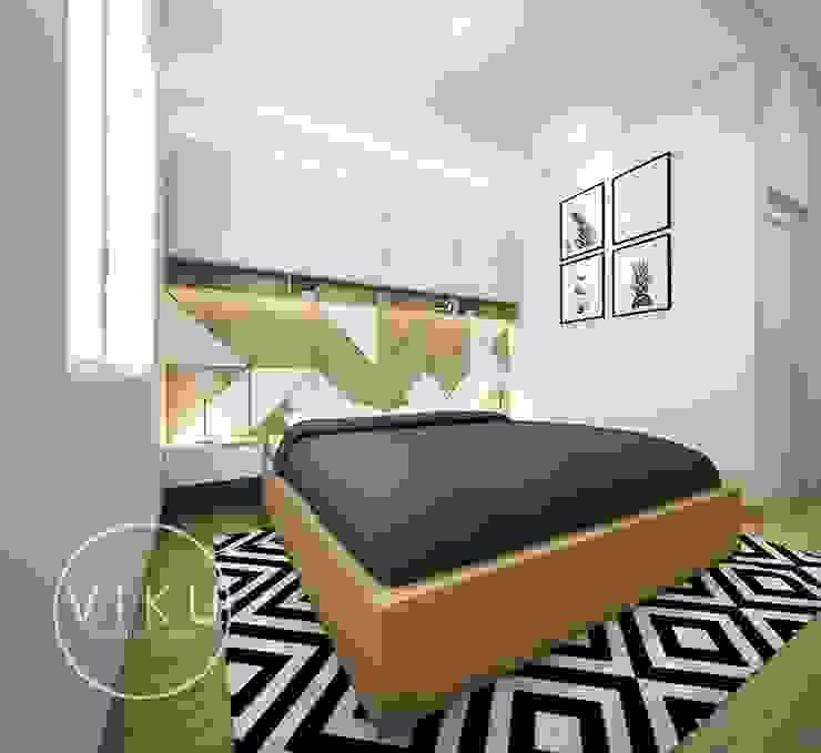 kamar tidur Kamar Tidur Gaya Skandinavia Oleh viku Skandinavia Kayu Wood effect