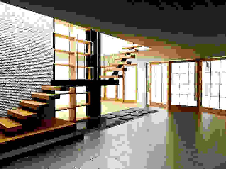 Ruang Keluarga Ruang Keluarga Modern Oleh r.studio Modern Batu Bata
