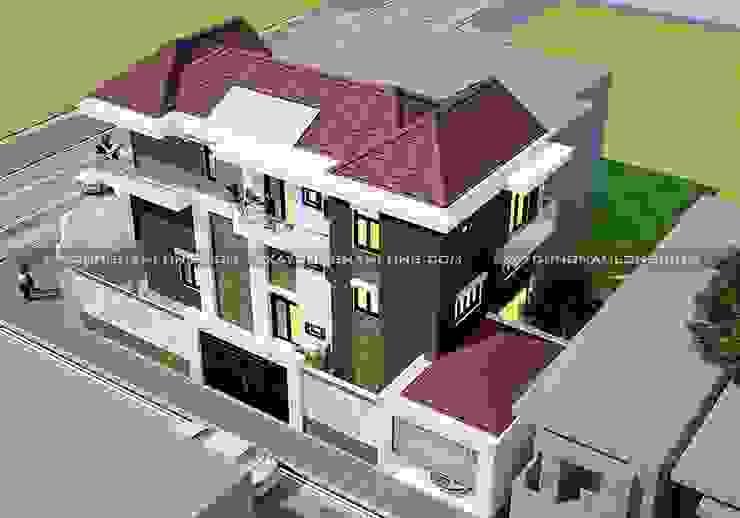 Thiết kế biệt thự phố 2 mặt tiền đẹp bởi Công ty xây dựng nhà đẹp mới