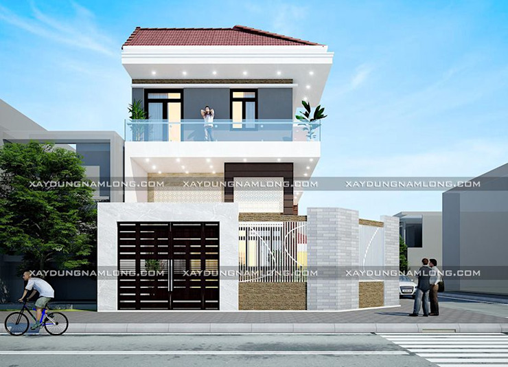 Biệt thự phố 2 mặt tiền bởi Công ty xây dựng nhà đẹp mới