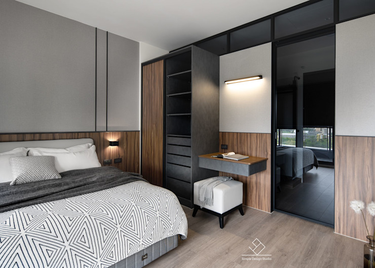 主臥設計 Modern style bedroom by 極簡室內設計 Simple Design Studio Modern