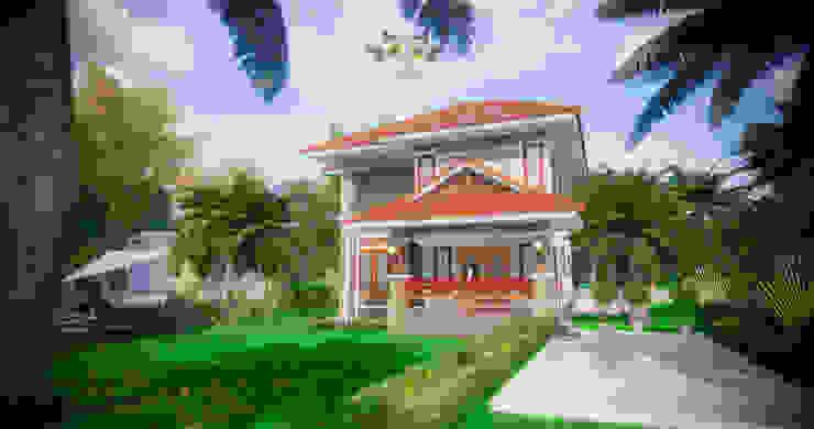 บ้านสองชั้น 7 โดย แบบบ้านออกแบบบ้านเชียงใหม่ ผสมผสาน คอนกรีต