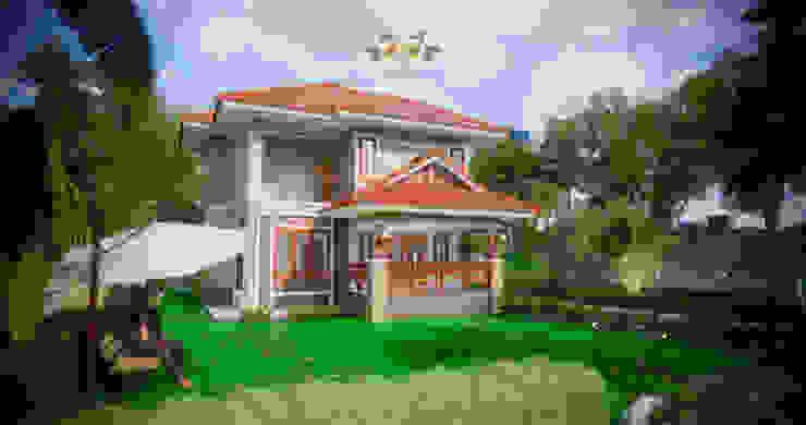 บ้านพักอาศัยสองชั้น 7 โดย แบบบ้านออกแบบบ้านเชียงใหม่ ผสมผสาน คอนกรีต