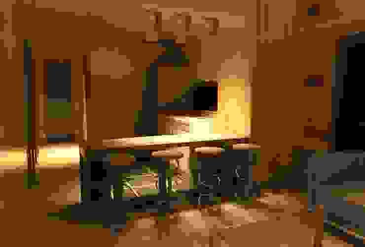 cocina americana casa minimalista de Incove - Casas de madera minimalistas