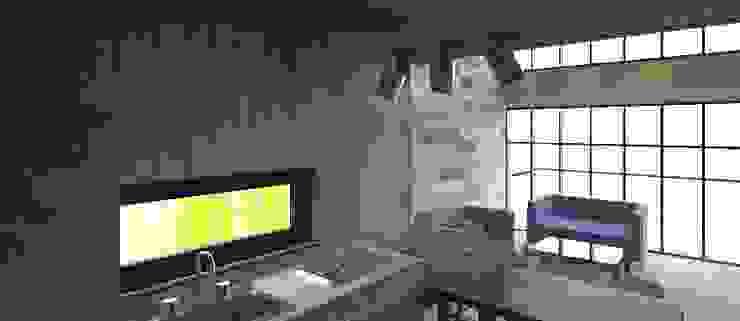 interior cocina luz día de Incove - Casas de madera minimalistas