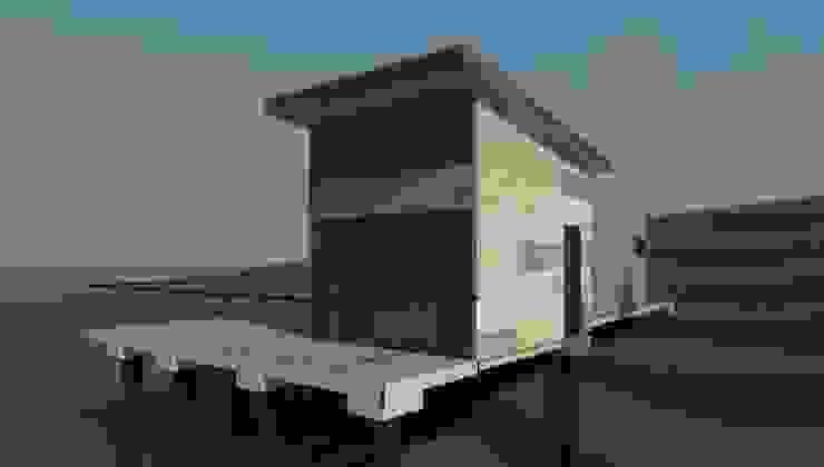 vista exterior de Incove - Casas de madera minimalistas